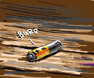 AA battery burps