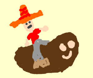 Mexican riding sentient bean