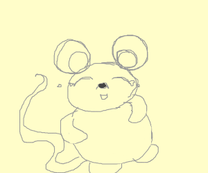Laughing mouse