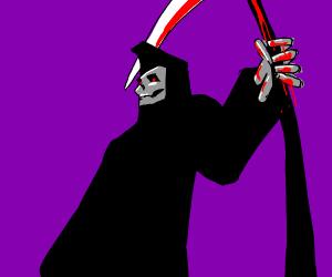 Death as an evil monster