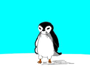 Weird seal + penguin