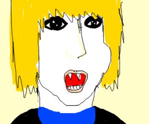 Vampire in a Blue Shirt