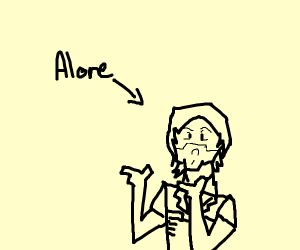 That guy from total drama island but hes alon