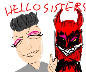 James Charles w/ demon friend