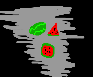 Giant watermelons in storm