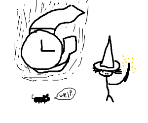 Wizard Kills Rat with Giant Watch