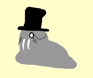a fancy walrus