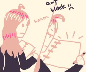 suffering from art block