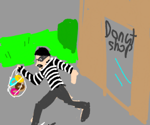 Thief stole Donuts