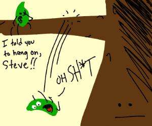 leaf falls off a tree in terror