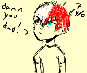 Baby todoroki is angry