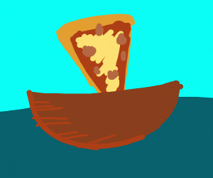 Pizza on a boat