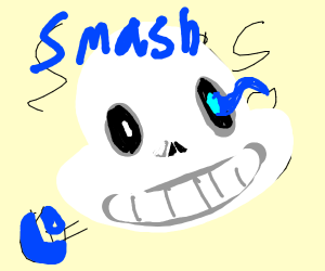 sans [A] has entered smash