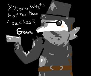 Plague doctor but with a gun