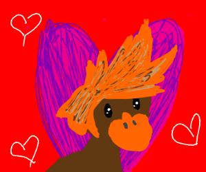 Hair duck in love