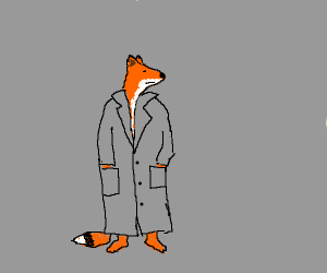 Fox in a trenchcoat