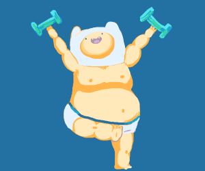 Buff Baby Lifts Weights