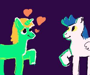 Pony in love
