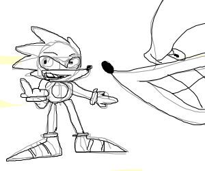 Sonic the sketch hog