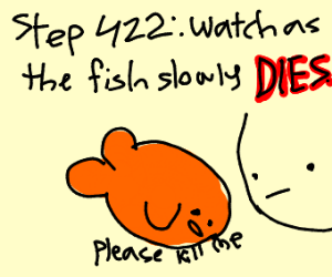 step 421: adopt a fish to get over it
