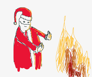 Santa by the Fireplace