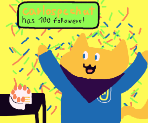 Congratulations on 100followers,Carlospcchat!