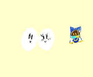 2 Eggs in love, 1 brokenhearted egg