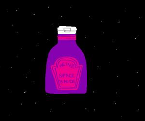 Space Sauce (in a Heinz-like purple bottle)