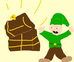 opening treasure chest