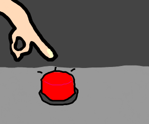 man ressing a button