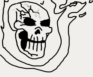 everything is fine skull