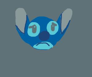 Stitch From Leo and Stitch is sad