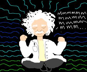 Einstein meditating