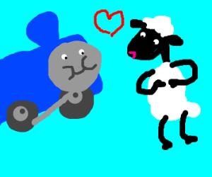 shaun the sheep and tank engine love story