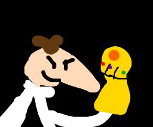 Heinz Doofenshmirtz has the Infinity Gauntlet