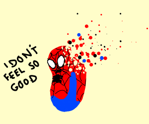 Spider-bean doesn't feel so good
