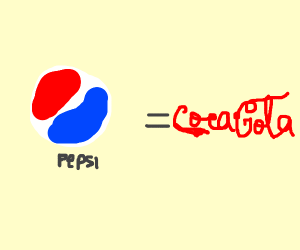 Pepsi is equal to Coca Cola