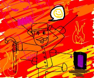 Actor enjoying Hell
