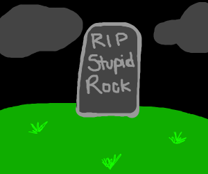grave of stupid rock