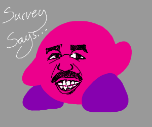 kirby with steve harvey's face