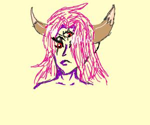 anime girl with horns