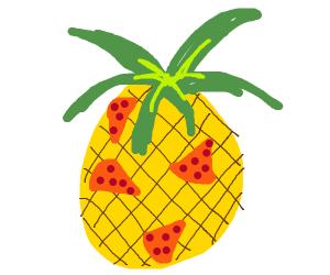 Pizzas on Pineapple