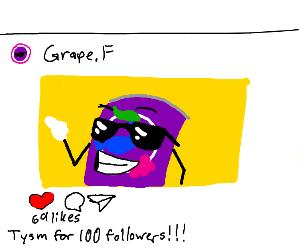GrapeFanta thanks you for 100 followers