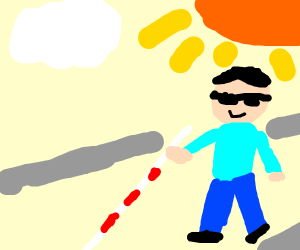 A blind guy