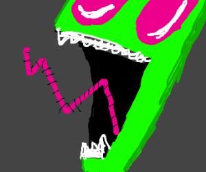 An angry Zim