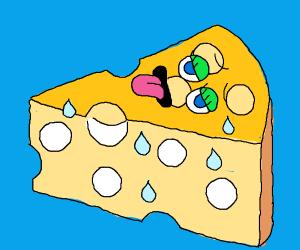 Hot anthropomorphic cheese
