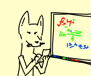 A furry who likes calculus