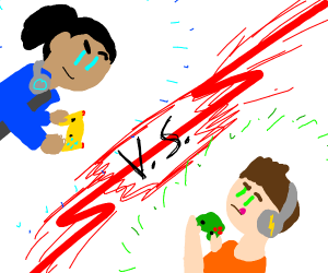 A brawl between gamers
