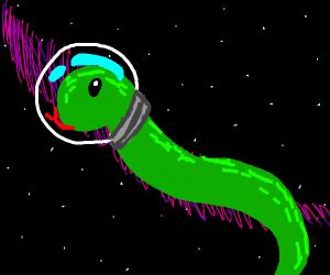 Snake in outer space.