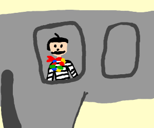 Fancy french man driving home from Hawaii